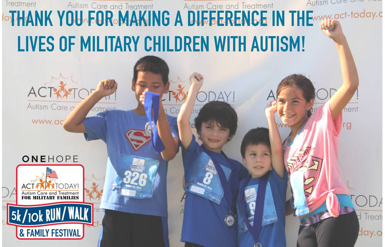Thank you for making a difference in the lives of military children with autism!